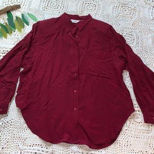 Vintage sunny Leigh silk blouse